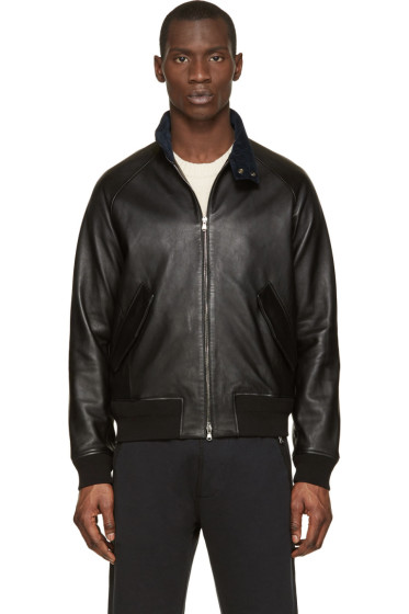 Acne Studios - Black Leather Ashton Bomber Jacket
