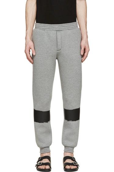 Krisvanassche - Grey Painted Stripe Lounge Pants