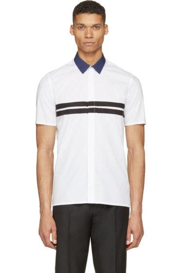Krisvanassche - White Contrast Collar Shirt