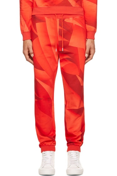 Christopher Kane - Red Page Print Lounge Pants