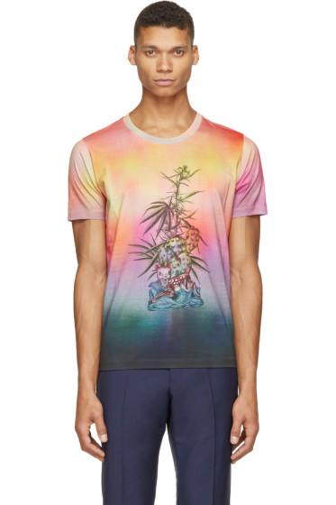 Paul Smith - Pink & Blue Mari Print T-Shirt