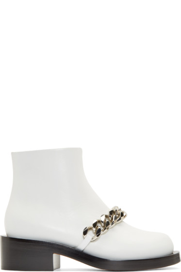 Givenchy - White Chained Laura Boots