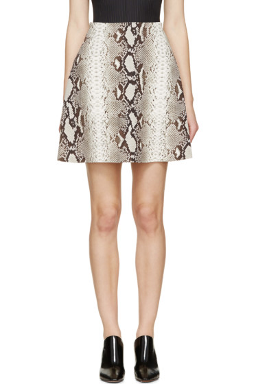 Carven - Brown Python Print Skirt