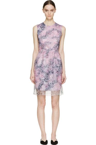 Carven - Pastel Floral Chiffon Dress
