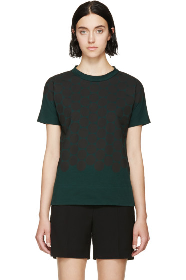 Marni - Forest Green Spotted Bow T-Shirt