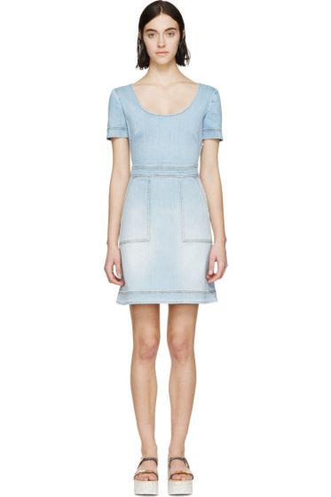 Stella McCartney - Blue Denim Cross-Back Dress