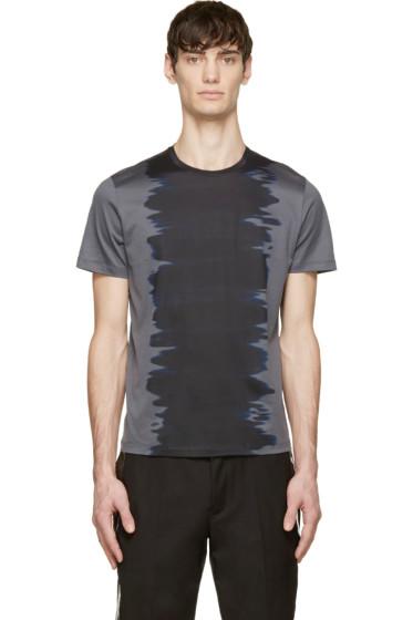 Calvin Klein Collection - Grey & Black Watercolour T-shirt