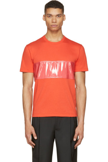 Calvin Klein Collection - Red PVC Band T-Shirt