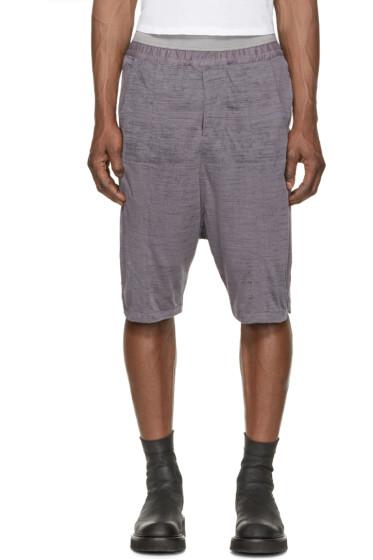 MA Julius - Purple Slub Opaled Jersey Shorts
