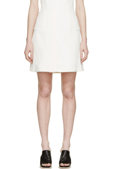 Giambattista Valli - Ivory Silk Crêpe Pocket Skirt