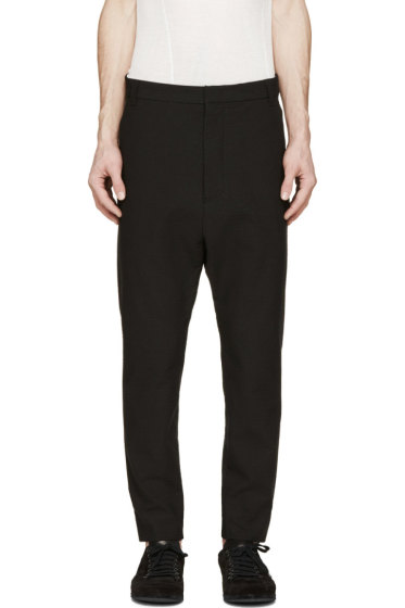 Alexandre Plokhov - Black Seersucker Trousers