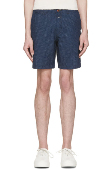 Closed - Blue & White Pin Dot Shorts