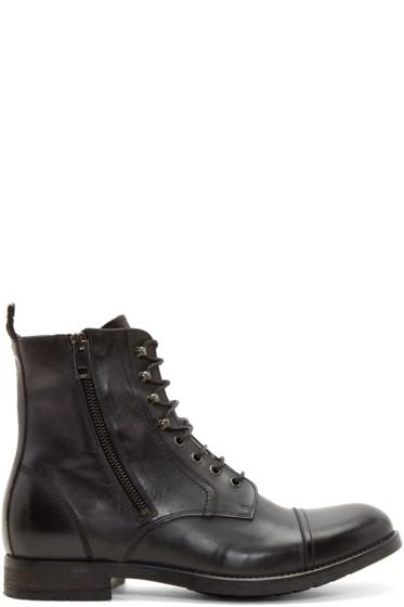 Diesel - Black Leather ZD-Kallien Boots
