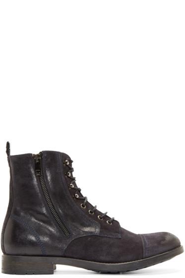 Diesel - Indigo Suede Zipped Boots