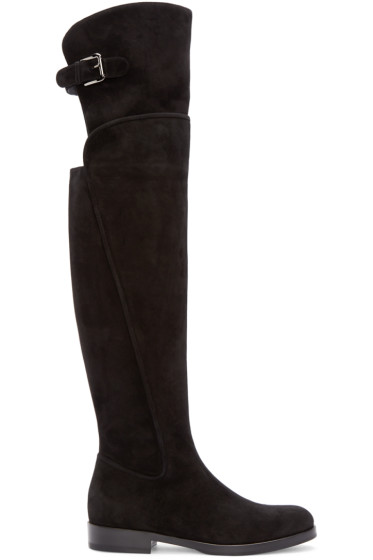 Dolce & Gabbana - Black Tall Suede Boots