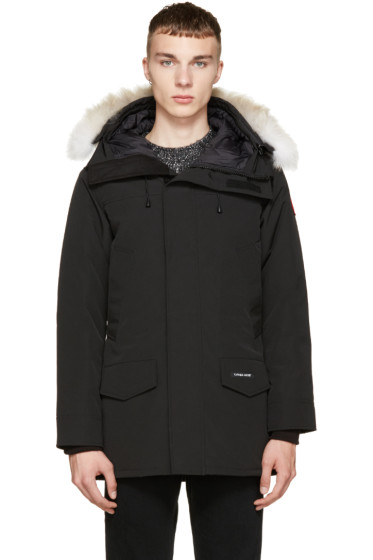 Canada Goose - Black Down & Fur Langford Parka