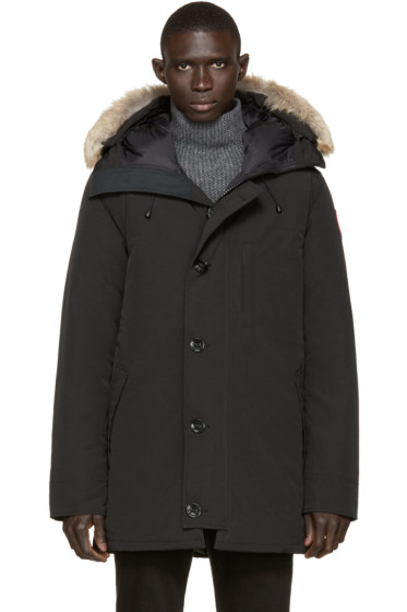 Canada Goose - Black Down & Fur Chateau Parka