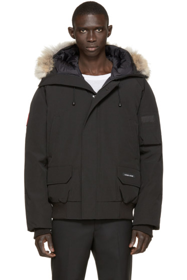 Canada Goose - Black Down & Fur Chilliwack Bomber
