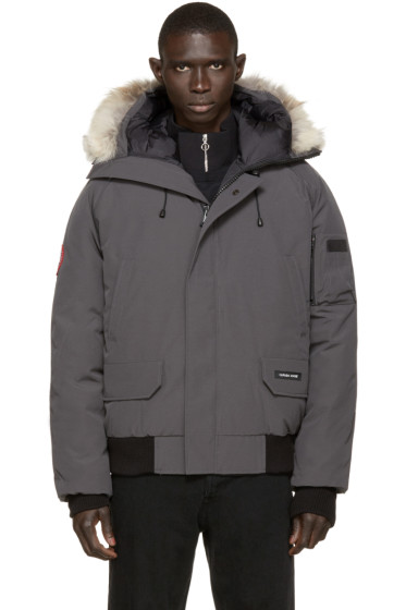 Canada Goose - Grey Down & Fur Chilliwack Bomber
