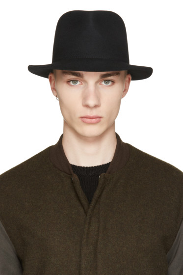 Rag & Bone - Black Wool Hackman Fedora