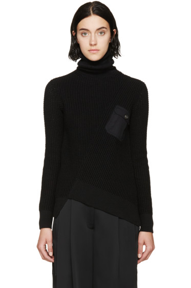 Marc by Marc Jacobs - Black Silk Angled Knit Sweater