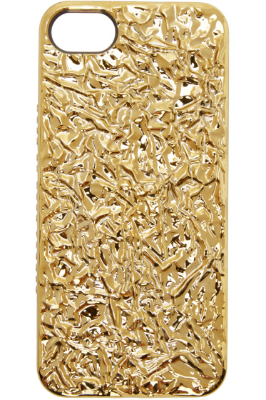 Marc by Marc Jacobs - Gold Crinkled Foil iPhone 5 Case