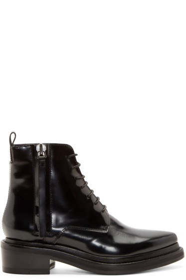 Acne Studios Black Linden Ankle Boots from SSENSE - Styhunt 371c595637e