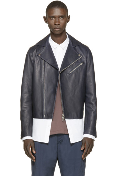 Acne Studios - Navy Leather Gibson Jacket