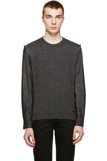 Dsquared2 - Charcoal Hybrid Sweater