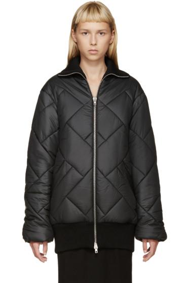 Maison Margiela - Black Quilted Coat