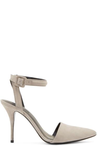 Alexander Wang - Grey Suede Lovisa Heels