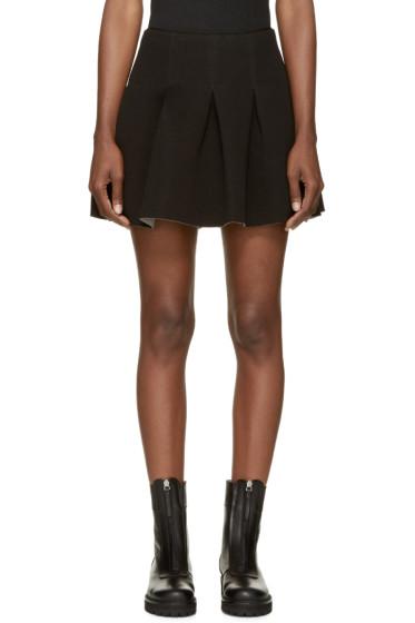 T by Alexander Wang - Black Neoprene Box Pleat Skirt