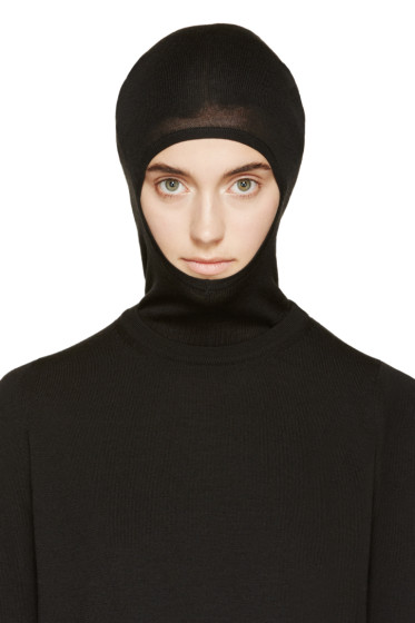 Rick Owens - Black Wool Long Skullcap