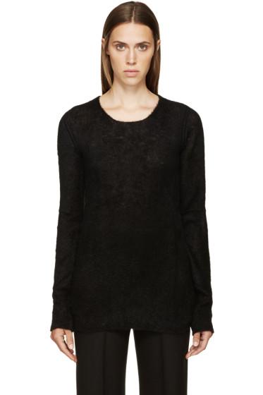 Rick Owens - Black Mohair Maglia Sweater