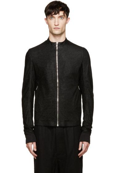 Rick Owens - Black Blister Leather Sternberg Jacket