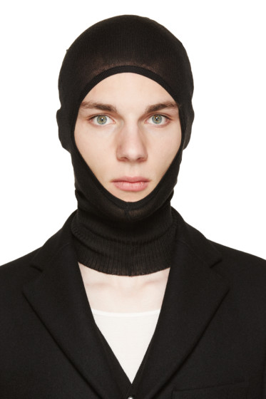 Rick Owens - Black Virgin Wool Balaclava