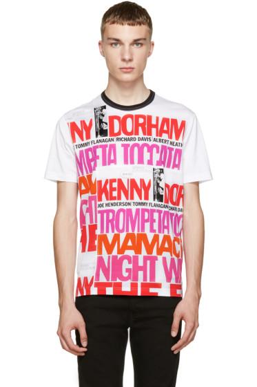 Junya Watanabe - White Printed T-Shirt