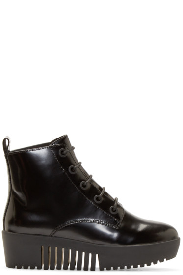 Opening Ceremony - Black Lace-Up Platform Boot
