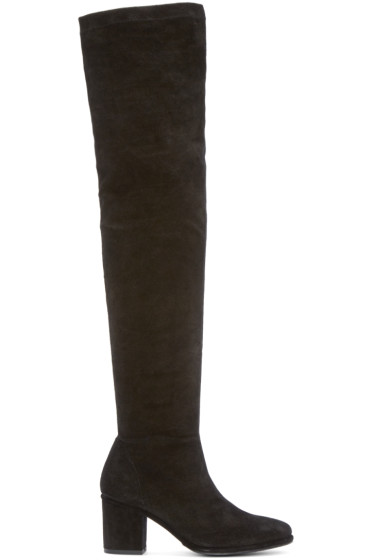 Opening Ceremony - Black Suede Marquee Boots