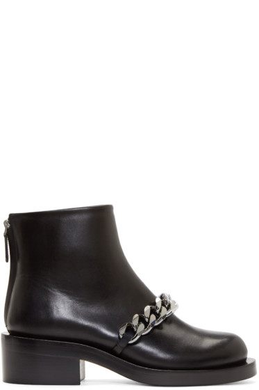 Givenchy - Black Chain Laura Boots