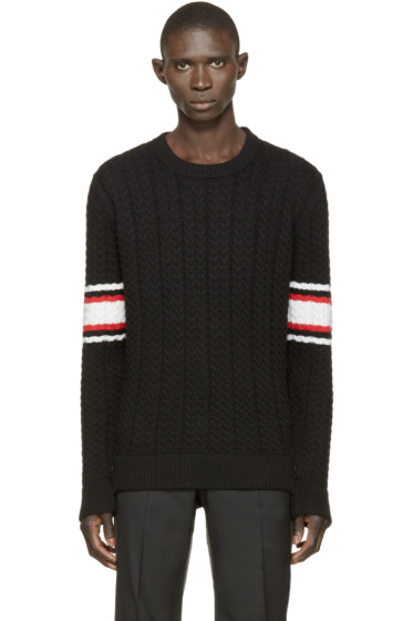 Givenchy - Black Striped Knit Sweater