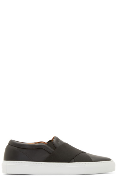 Givenchy - Black Elastic Band Slip-On Sneakers