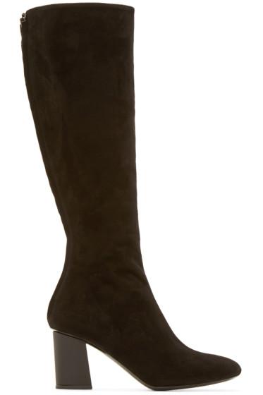 Proenza Schouler - Black Suede Tall Boots