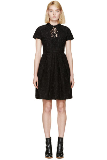 Carven - Black Lace Collared Dress