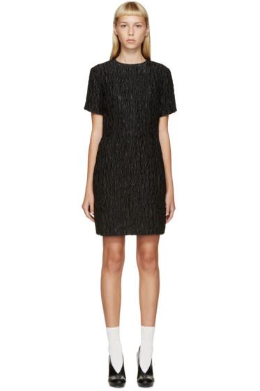 Carven - Black Waffled Jacquard Dress