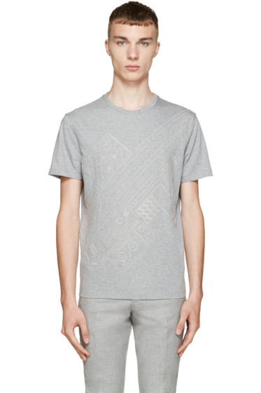Carven - Grey Embroidered T-Shirt