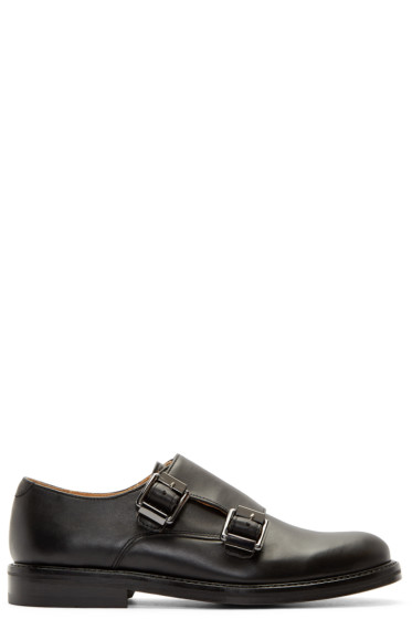 Carven - Black Leather Monky Loafers