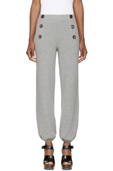 Chloé - Grey Wool Lounge Pants