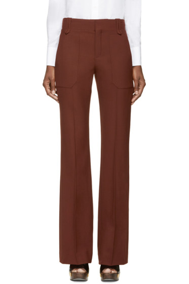 Chloé - Maroon Wool Trousers