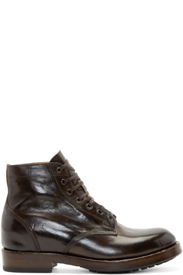Officine Creative - Brown Leather Lowry Boots